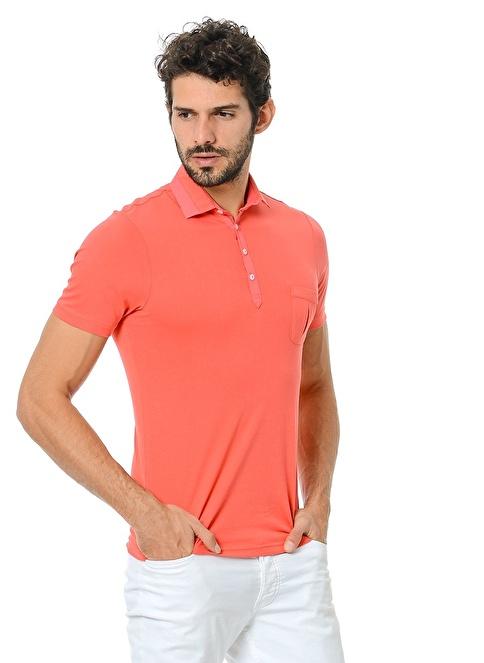 Adze Polo Yaka Tişört Kırmızı
